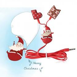 Lovely Christmas Santa Claus Earphone