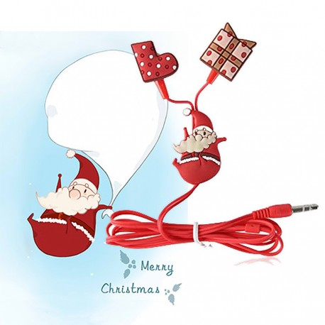 Lovely Christmas Santa Claus Earphone