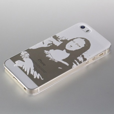 Cool Woodcuts Style Mona Lisa Art Design Phone Case For iphone